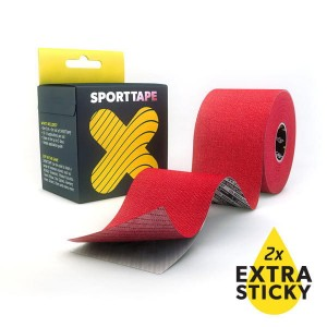 SPORTTAPE Red Extra Sticky kinesiology taping
